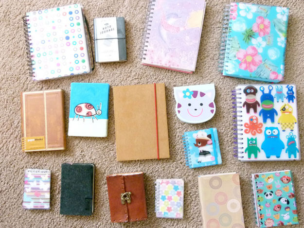 Some of Liz Kessler's favorite notebooks
