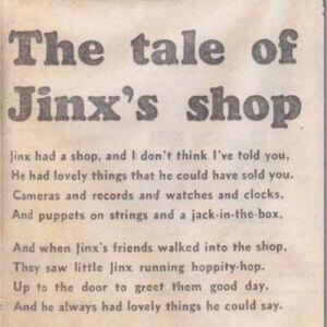'The Tale of Jinx's Shop', a poem by Liz Kessler written when she was nine years old.